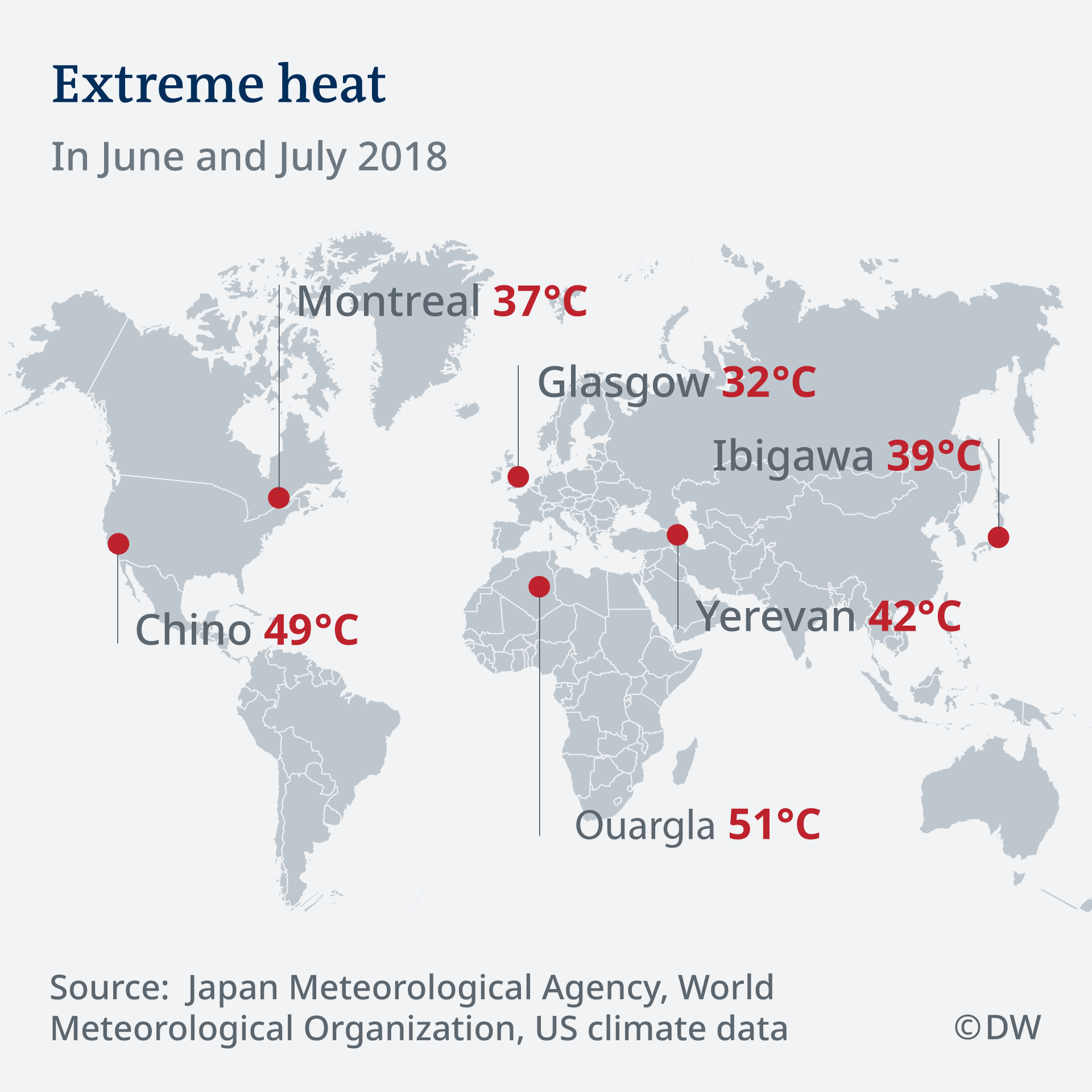 Japan heat wave death toll soars amid record temperatures news world map showing areas where extreme heat has been recorded in june and july gumiabroncs Image collections