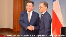 Treffen zwischen den Außenminister Heiko Maas und seine Amtskollege aus Chile, Roberto Ampuero © Deutsche Botschaft Chile/Birgit Heitfeld
