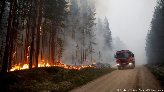 Schweden Waldbrände bei Ljusdal