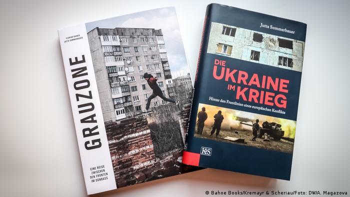 Сіра зона (ліворуч) - друга книга Юти Зоммербауер про Донбас