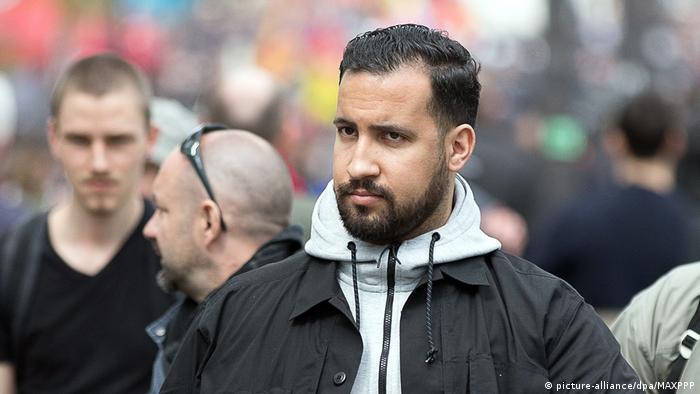 Frankreich Macrons Sicherheitshelfer Alexandre Benalla (picture-alliance/dpa/MAXPPP)