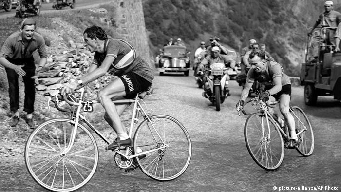 Tour de France 1952 L'Alpe d'Huez Fausto Coppi (picture-alliance/AP Photo)