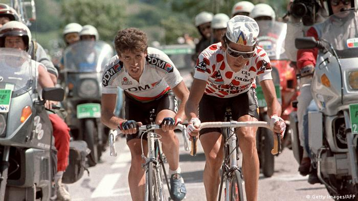 Tour de France 1987 L'Alpe d'Huez Luis Herrera (Getty Images/AFP)