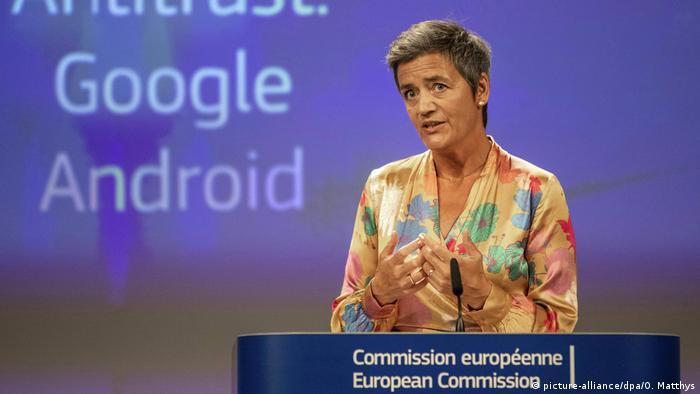 Belgien Rekordstrafe für Google   EU-Wettbewerbskommissarin Margrethe Vestager