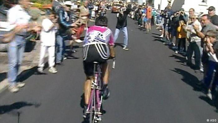 Tour de France 1999 Guiseppe Guerini und der Fotograf (ASO)
