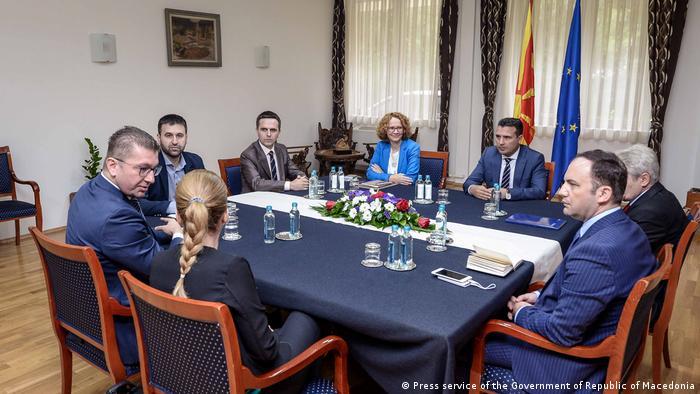 Führer der mazedonischen politischen Parteien