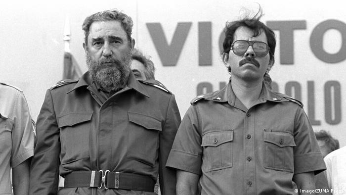 Bürgerkrieg in Nicaragua - Fidel Castro und Daniel Ortega (Imago/ZUMA Press)