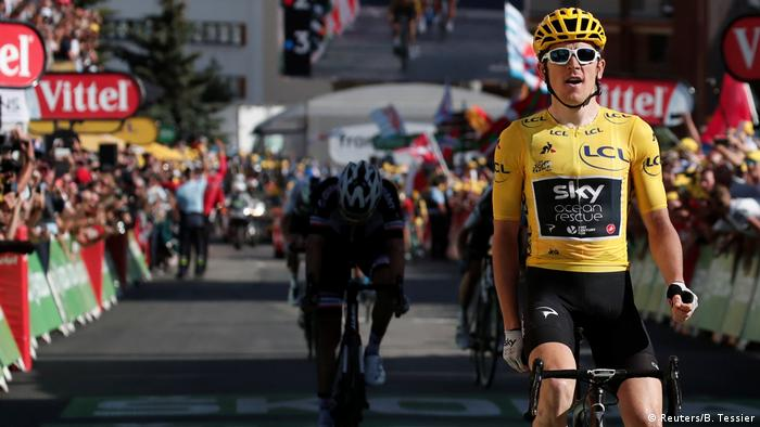 8e3c65b91 Tour de France  Overall leader Geraint Thomas wins 12th stage ...