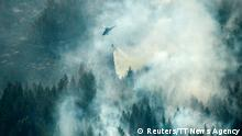 An aerial view of Sweden wildfires (Reuters/TT News Agency)