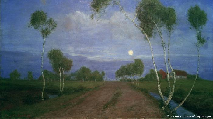 Вечер на болоте. Фриц Овербек, 1896 год