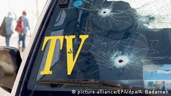Symbolbild Gewalt gegen Journalisten