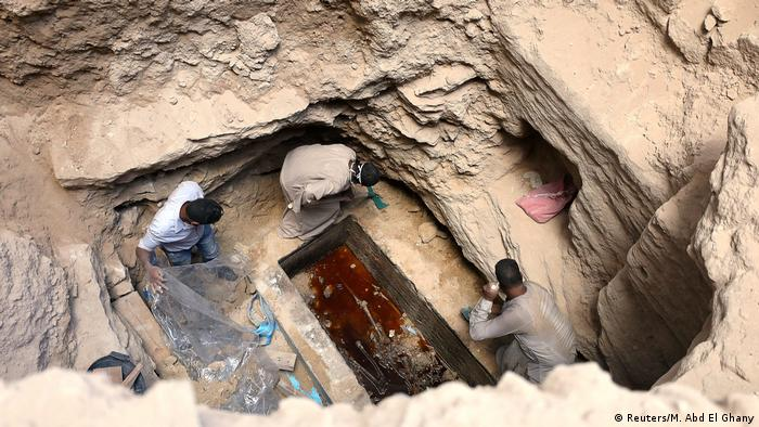 Skeletons in the sarcophagus, Alexandria Egypt