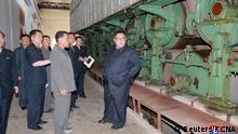 Nordkorea Kim Jong Un besucht Fabrik