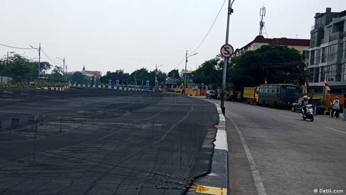 Jakarta Kali Gegenstände im Fluss (Detik.com)