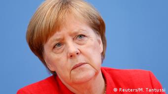 German Chancellor Angela Merkel holds the annual summer news conference in Berlin (Reuters/M. Tantussi)