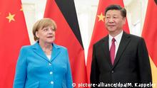 Angela Merkel and Xi Jinping in 2018 in Beijing