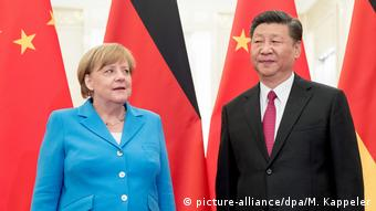 China Peking Angela Merkel und Xi Jinping (picture-alliance/dpa/M. Kappeler)
