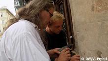 Teilnehmer eines deutsch-ukrainischen Restauratorenteams