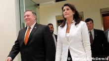 USA Mike Pompeo und Nikki Haley