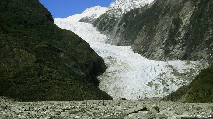 Glaciar în Noua Zeelandă (DW/D. Killick)