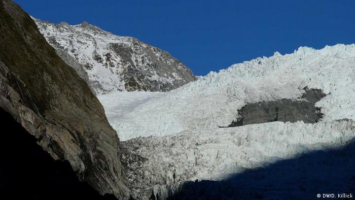 The peak of the Franz Josef glacier