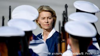 Урсула фон дер Ляйен на военном параде