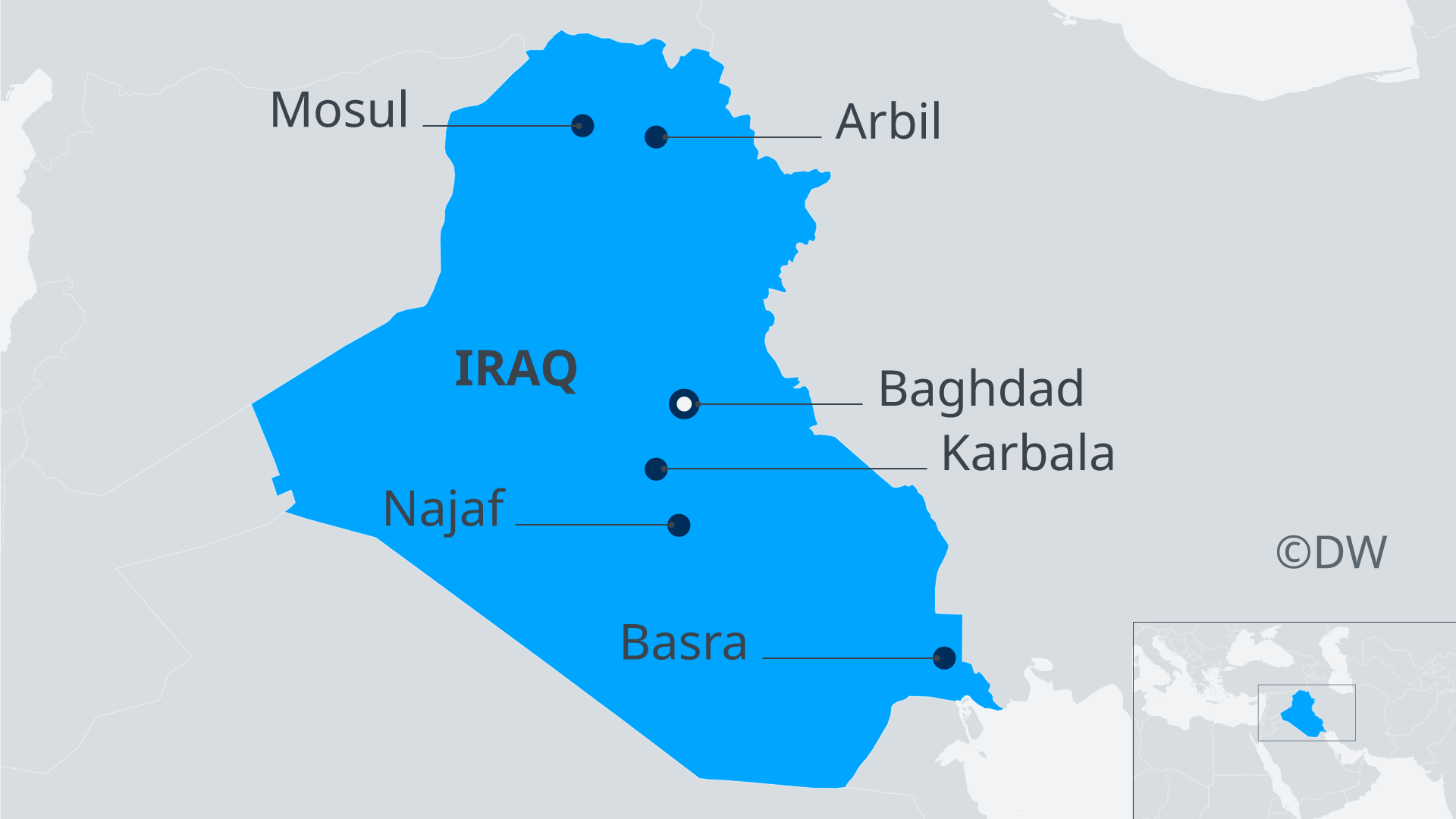 DW Infographic map of Iraq