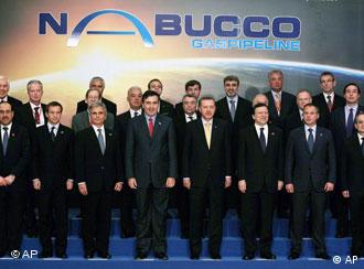 نشست بینالمللی برای احداث نابوکو، ۱۳ جولای ۲۰۰۹- رهبران همه کشورهای منطقه هستند غیر از ایران