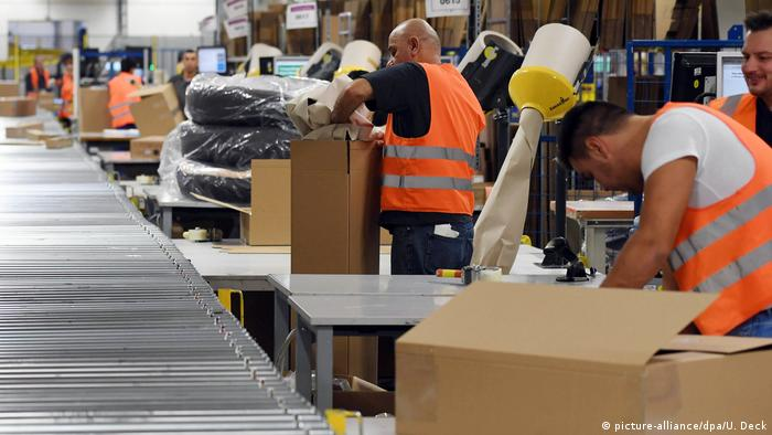 Amazon logistical center in Pforzheim, Germany