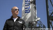 March 30, 2017 - FILE - JEFF BEZOS, Amazon (AMZN) founder and CEO, is now the second-richest person on the planet. Bezos' wealth climbed to $75.6 billion on Wednesday, according to the Bloomberg Billionaires Index. Pictured: Nov 24, 2015 - Van Horn, Texas, U.S. - Bezos, founder of Blue Origin, inspects New Shepard's West Texas launch facility before the rocket's maiden voyage. The New Shepard space vehicle successfully flew to space, reaching ian altitude of 329,839 feet. The New Shepard spacecraft, a reusable sub-orbital rocket and capsule is designed to boost passengers out of Earth's atmosphere for brief forays in space |
