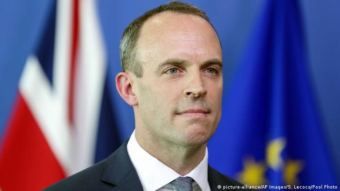 Dominic Raab (picture-alliance/AP Images/S. Lecocq/Pool Photo)