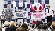 Japan's Olympic mascots Miraitowa and Someity in Tokyo