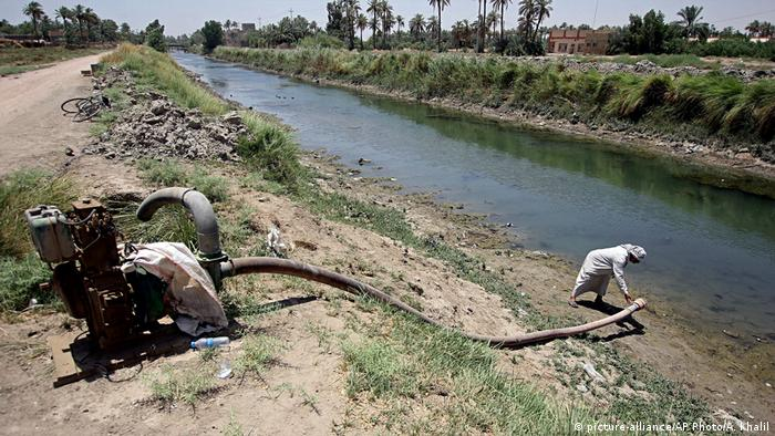 Drought affecting agriculture in Mishkhab, Iraq