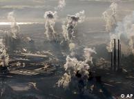 Vista aérea da planta da ThyssenKrupp em  Duisburg