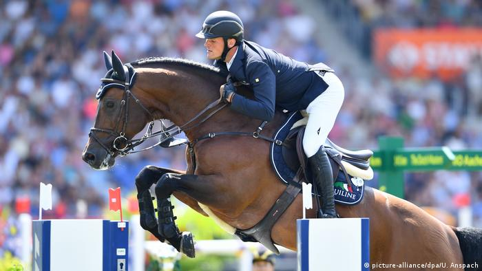 CHIO Aachen Maurice Tebbel auf Chaccos (picture-alliance/dpa/U. Anspach)