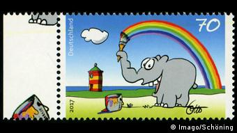Briefmarke Deutsche Post Ottifant Ottifant (Imago/Schöning)