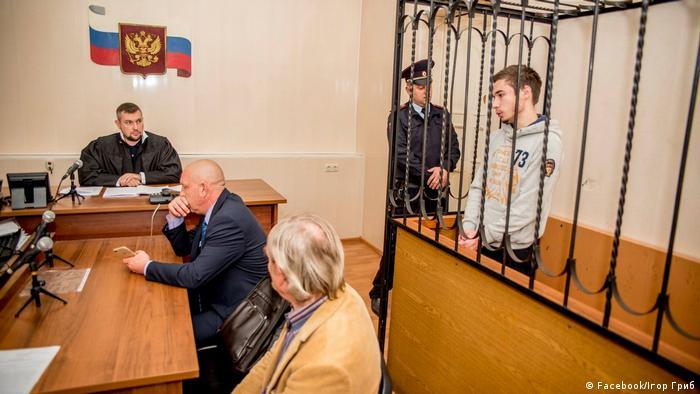 Павло Гриб у залі суду