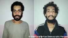 Alexanda Kotey and El Shafee Elsheikh (Reuters/Syrian Democratic Forces)