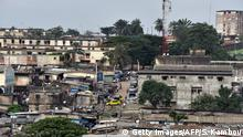 A view of Williamsville a poor neighborhood of the southeastern coastal city of Abijan, the former political capital and primary economic center of the Ivory Coast situated on the Gulf of Guinea, seen on September 13, 2014. Although the administrative capital of Ivory Coast was officially transferred to Yamoussoukro in 1983, the institutions of the republic such as the Presidency and National Assembly are still in Plateau. It is the main administrative commercial and financial center of the country . AFP PHOTO / SIA KAMBOU (Photo credit should read SIA KAMBOU/AFP/Getty Images)