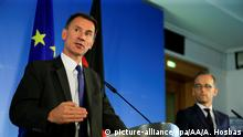 Deutschland | Jeremy Hunt in Berlin