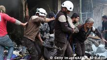Syrien | Weißhelme bei der Rettung von Zivilisten