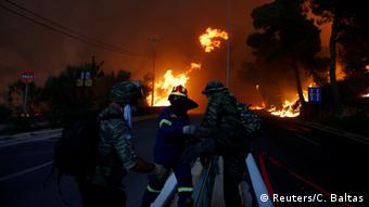 Griechenland Feuer Waldbrände
