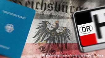 Symbolbild Reichsbürger (picture-alliance/chromorange/C. Ohde)