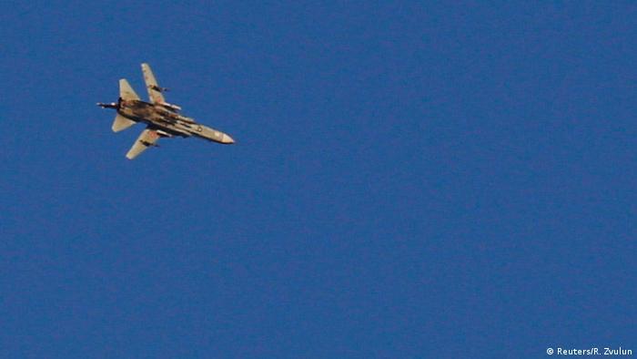 Літак ізраїльської армії над Голанськими висотами