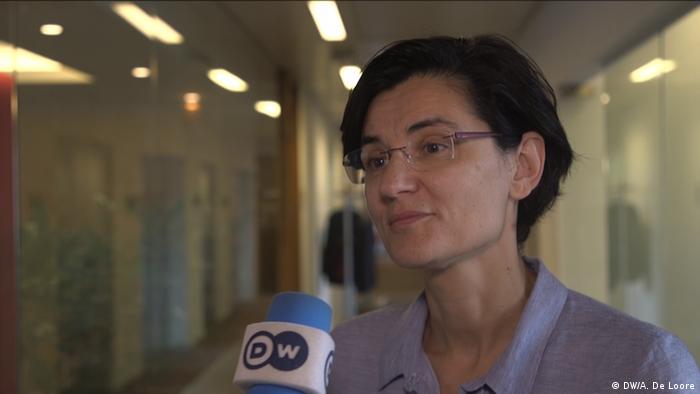 Ökonomin Maria Demertzis von der Brüsseler Denkfabrik Bruegel im Gespräch mit der Deutschen Welle