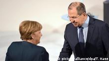 Deutschland Angela Merkel und Sergej Lawrow ARCHIV