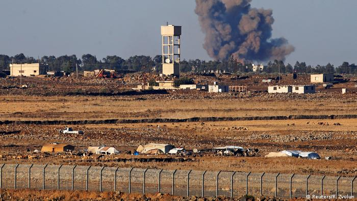 Fighting along the Syrian border with the Israeli-occupied Golan Heights