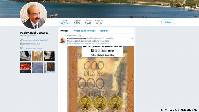 Pablo Rafael González, autor del libro Apreciaicón crítica de la política monetaria. El bolívar oro.