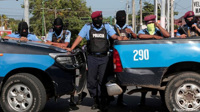 Foto de policías en Nicaragua