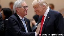 Deutschland G20 Gipfel Jean-Claude Juncker und Donald Trump